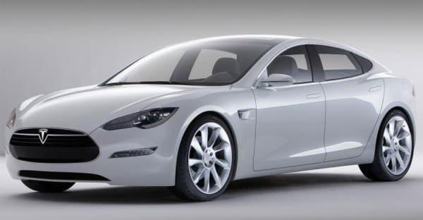 Tesla Model S вид с боку