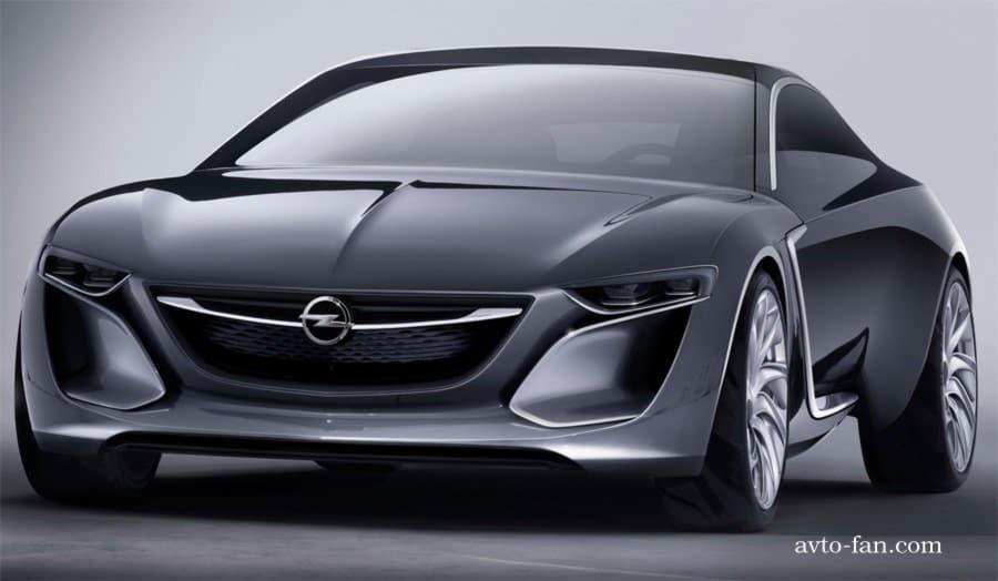 Вид Opel Monza 2013 спереди