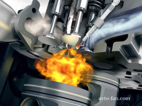 Двигатель работает на солярке