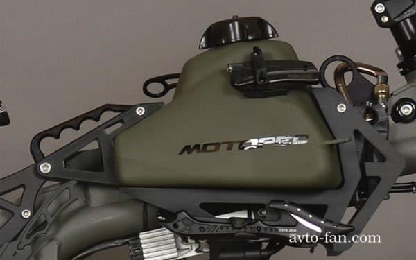 Эмблема компании Motoped на мопеде
