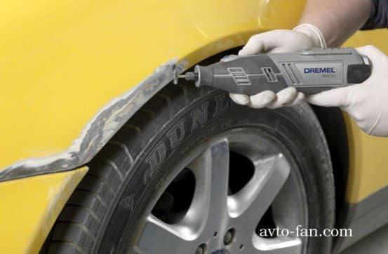Удаление ржавчины от кузова автомобиля