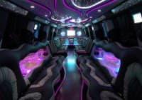 В салоне современного лимузина