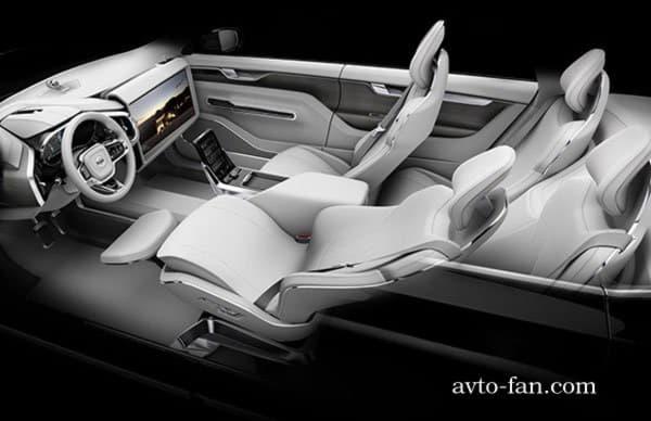 Салон беспилотного автомобиля от Volvo