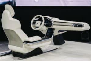 Водительское сидение с панелей приборов