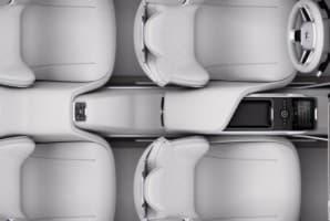 Вид нового салона Volvo сверху