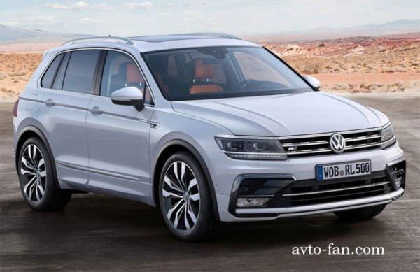 Общий вид автомобиля Volkswagen tiguan 2016