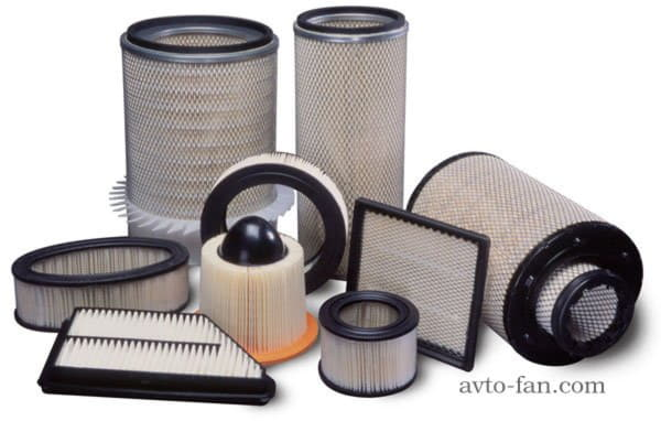 Типы воздушных фильтров для автомобилей