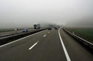Движение на автомобиле в тумане