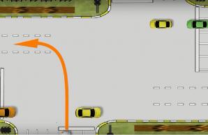 Как правильно выполнить поворот налево на смещённом перекрёстке