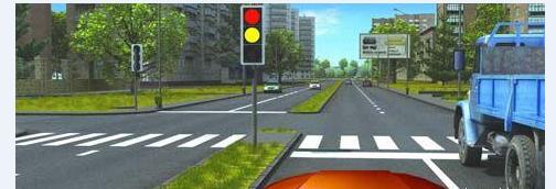 Проезд на жёлтый сигнал светофора, кто виноват?
